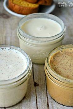 Homemade Holiday Coffee Creamers - Eggnog, Gingerbread, & Vanilla Mint!