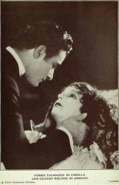 """Best Film Posters : Norma Talmadge and Gilbert Roland from the lost film """"Camille"""" - Dear Art Hollywood Actor, Golden Age Of Hollywood, Classic Hollywood, Old Hollywood, Hollywood Glamour, Hollywood Actresses, Silent Screen Stars, Silent Film Stars, Cinema Posters"""
