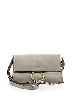 0a3f98d7b030 1390 SaksChloé Faye Small Suede   Leather Shoulder Bag