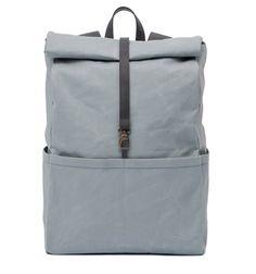Backpack Oyster /Stone  Rucksack für Männer und Frauen aus beschichteter Baumwolle und pflanzlich gegerbtem Leder. Gepolsterter Rücken und integriertes Laptopfach innen, sowie Reißverschlußinnentasche. Fünf Außentaschen, verstellbarer Karabinerverschluß. Rucksack auch in schwarz und navy erhältlich unter www.vanook.com
