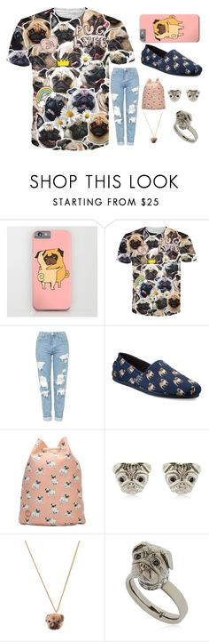 """Pug life"" by barboratosilova on Polyvore featuring Topshop, Skechers, Mi-Pac and And Mary"