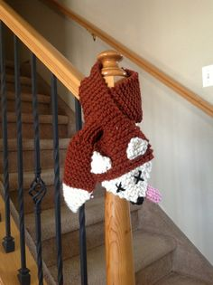 Hilarious Red Fox Scarf Animal Neck Warmer by TalulaCrafts on Etsy, $22.00