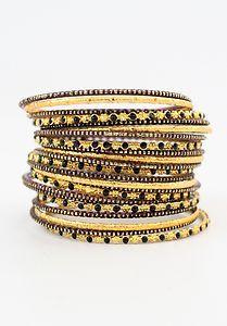 Vtg 70s Womens #Skinny Gold Cuff Bangle #Bracelet Set #Gypsy Hippie #Boho Chic