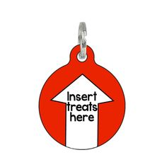 Cute Pet ID Dog or Cat Tag Insert Treats Here by BadTags on Etsy