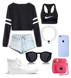 """""""Untitled #242"""" by sofieb02 on Polyvore featuring WithChic, Madewell, NIKE and Le Specs"""