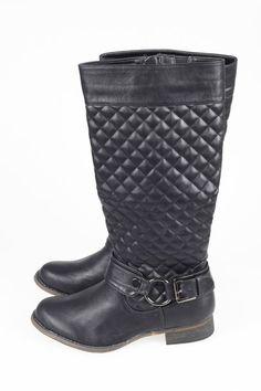 FRANCIE STØVLE Quilted winter boot. http://www.cremefraiche.dk/