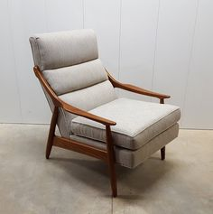 Professionally Refinished Mid Century Danish Modern Style Lounge Chair by Paoli Chair Co.