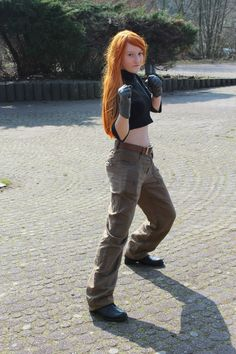 #kimpossible #childhood #callmepeepme #ginger #redhair #gloves #boots #cargo