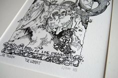 Letterpress Illustration of the Hobbit by adamtrest on Etsy, $55.00
