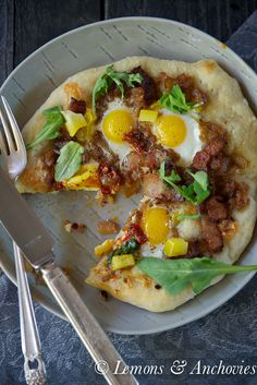 Bacon & Egg Pizza | Lemons & Anchovies Blog