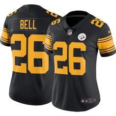 Nike Women's Color Rush 2016 Limited Jersey Pittsburgh Le'Veon Bell #26, Size: Medium, Team