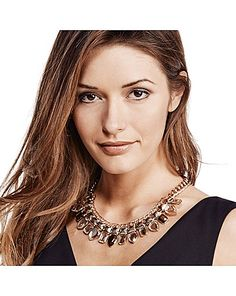 Necklace from Marisota to suit anyone with brown hair or eyes. A classic elegant look.