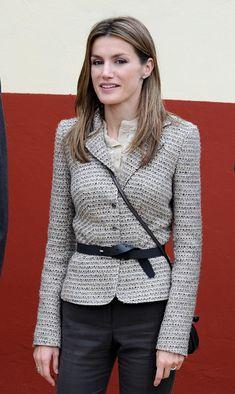 Spain's Prince Felipe and Princess Letizia Visit Sobrescobio Village