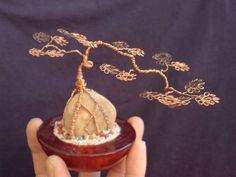 Miniature Wire Bonsai Tree 10-2 by sinisaart