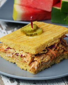 Sheet Pan BBQ Chicken Cornbread Sandwich Recipe by Tasty