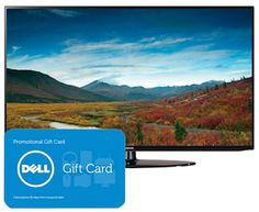 Samsung 46″ 1080P LED WiFi HDTV w/ $150 Dell GC for $799.99