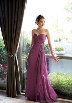 72dd1c27d45e3 Floor-Length Chiffon Charmeuse Bridesmaid Dresses Abiti Per Damigella  D onore