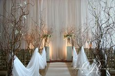 orchids and branches.. reception wedding flowers,  wedding decor, wedding flower centerpiece, wedding flower arrangement, add pic source on comment and we will update it. www.myfloweraffair.com can create this beautiful wedding flower look.