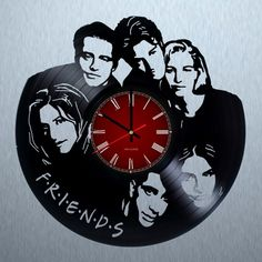 Friends Handmade Vinyl Record Wall Clock Fan Gift - VINYL CLOCKS
