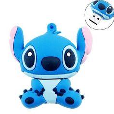 Amazon.com: niceEshop(TM) 8GB Cute Cartoon Stitch Shaped USB Flash Drive / Memory Stick -Blue: Computers & Accessories