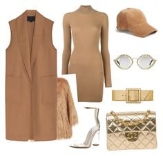 """""""casual nude&gold"""" by deonalashay on Polyvore featuring Cape Robbin, adidas Originals, Pinko, Alexander Wang, Chanel, rag & bone, Yves Saint Laurent and Gucci"""