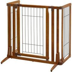 Richell Premium Plus Freestanding Pet Gate with Door