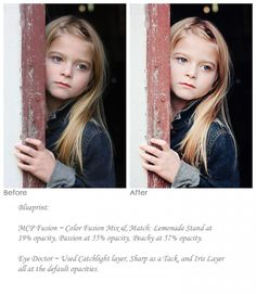 MCP Actions - Photoshop Editing Before & After