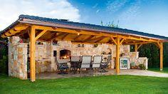 I like - Album uživatelky adec Backyard Fireplace, Backyard Bar, Backyard Kitchen, Backyard Patio Designs, Backyard Landscaping, Summer Kitchen, Outdoor Rooms, Outdoor Living, Brick Bbq
