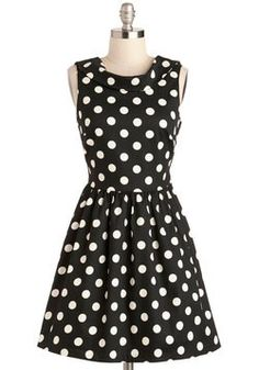 Adore this classic polka dot dress! #retro #vintageinspired #fashion #dress