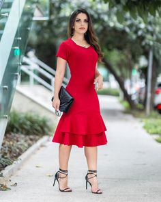 Dress red outfit casual simple ideas for 2019 Elegant Dresses, Pretty Dresses, Casual Dresses, Short Dresses, Casual Outfits, Fashion Dresses, Kohls Dresses, Dresses Dresses, Summer Dresses