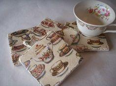 Tea Pots and Tea Cups Tea Coasters