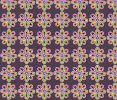 Geometric_Flowers fabric by madrehijadesign on Spoonflower - custom fabric
