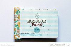 Bonjour Paris Mini Album @Abbey Adique-Alarcon Phillips Mounier Calico by designer Céline Navarro