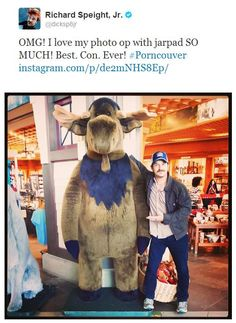 Just a photo of Richard Speight Jr. with Jared Padalecki.