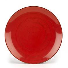 Assiette plate en grès rouge effet patiné Rouge - Ground - Les assiettes plates - Assiettes - Arts de la table - Décoration d'intérieur - Alinéa