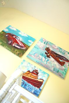 Love these for a big boy's room.