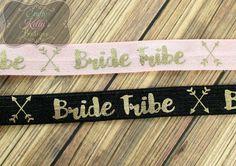 BRIDE TRIBE Gold Foil FOE Yard 5/8 inch by CraftyKellysBoutique