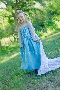 Elise's Girls Boutique Everyday Princess Dress PDF Pattern Elsa Frozen Snow Queen Costume