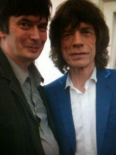 Ian Rankin and Mick Jagger (July 2012)