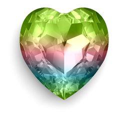 Rainbow Heart Crystal by SWAROVSKI CRYSTALLIZED™