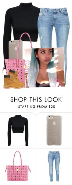 """""""✨"""" by newtrillvibes ❤ liked on Polyvore featuring Case-Mate, MCM, Zara and Timberland"""