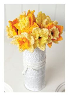 Daffodils Flowers in Hayfield Bonus DK. Discover more Patterns by Hayfield at LoveKnitting. The world& largest range of knitting supplies - we stock patterns, yarn, needles and books from all of your favorite brands. Free Knitting Patterns Uk, Free Pattern, Crochet Patterns, Crochet Stitches, Knitting Supplies, Knitting Projects, Craft Projects, Knitting Books, Knitting Ideas