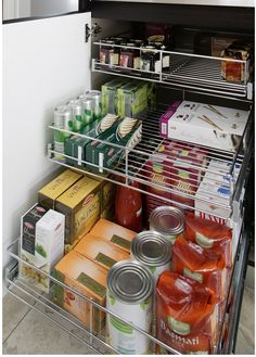 Create functional kitchen storage with pull out wire baskets instead of drawers. Contact Tansel with cabinet dimensions for expert advice and product range.