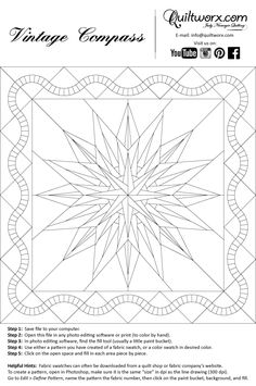 Vintage Compass; wow, now you're talking...lots of pieces...they make the prettiest blocks!