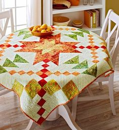 Star Burst Wall Quilt from bhg.com I love the colors they make me think of summer and a bowl of citrus. Pattern with a star.