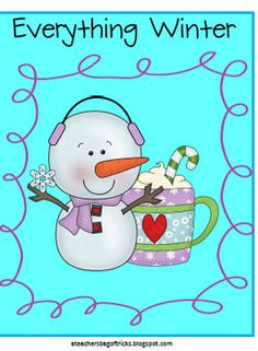 A fun, winter themed packet that includes full lesson plans and activities in math, literacy, and art.- Glyph- Graphic Organizers- Vocabulary...
