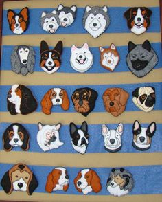 dogs...would make nice appliqués for a child's quilt.