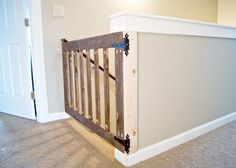 baby gate at the top of the stairs....!