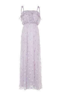 Sleeveless Ruffled Dress by LUISA BECCARIA for Preorder on Moda Operandi