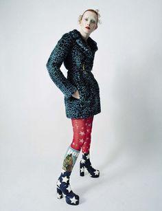 Publication: Vogue Italia, December 2015 Model(s): Karen Elson Photographer(s): Tim Walker Stylist(s): Jacob K Make-Up: Sam Bryant
